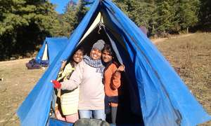 Camping in tents