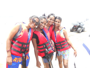 Jet skiing during one of Kranti's field trips
