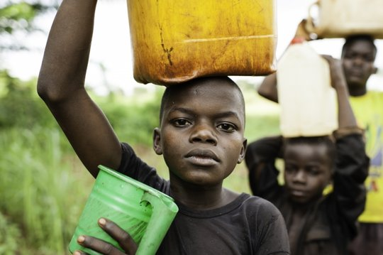 Fetching water while fleeing Joseph Kony