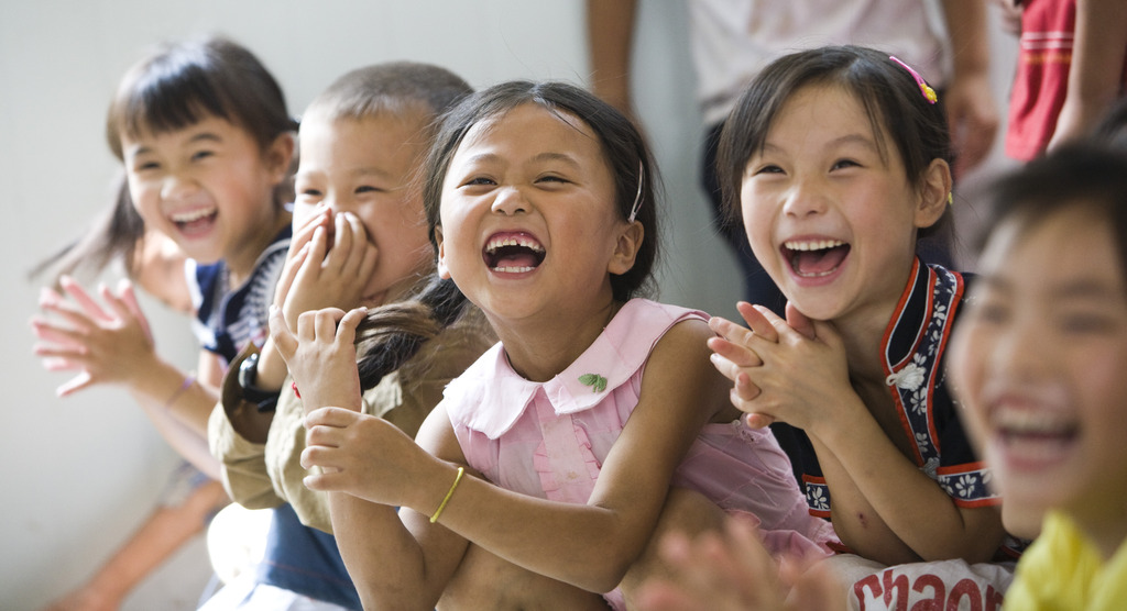 Children regain a sense of well-being
