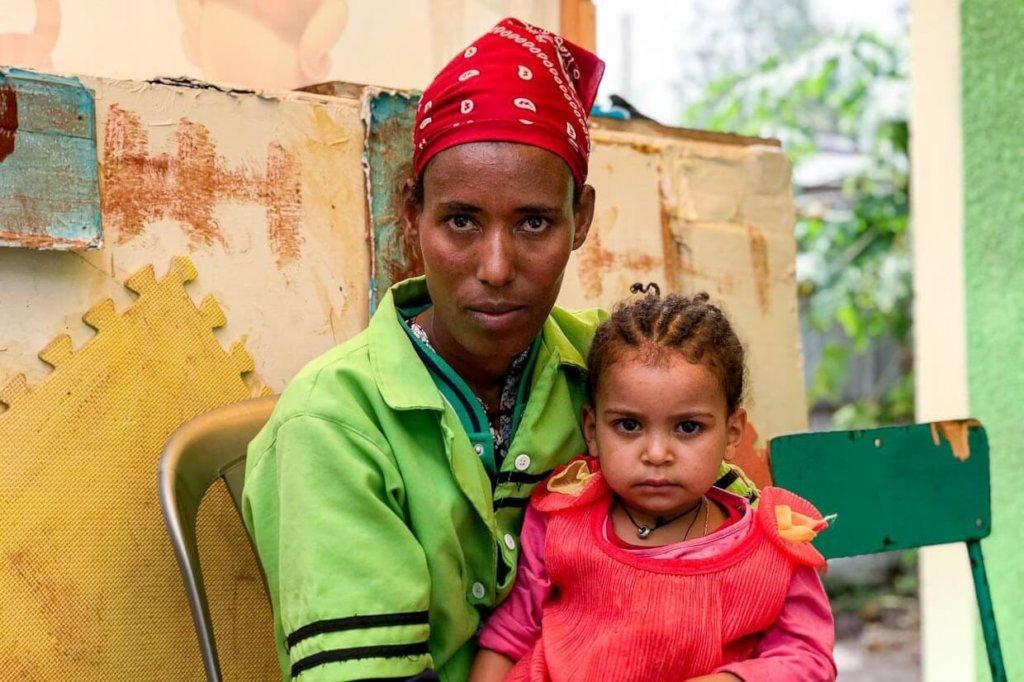 Tirungo, 27 and her daughter