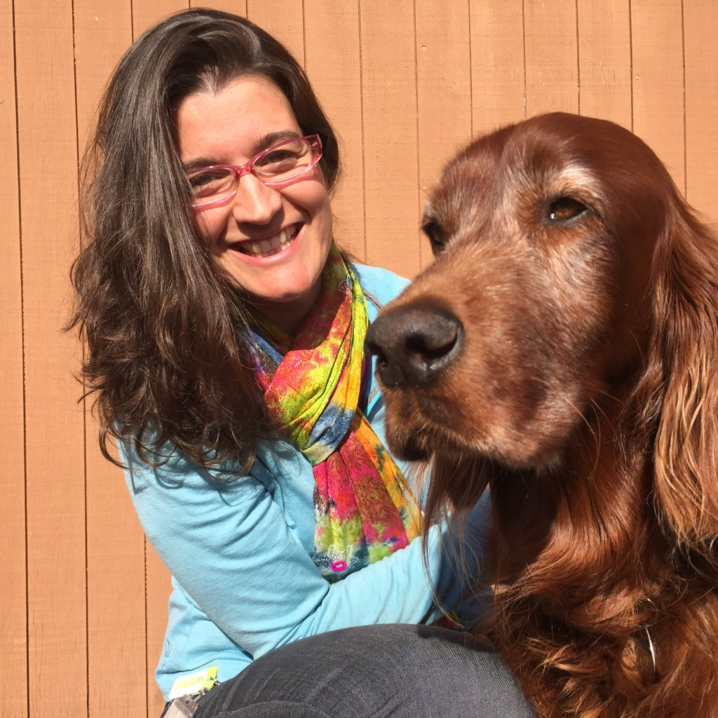Vanesa Vizuete and her Irish Setter, Trasto