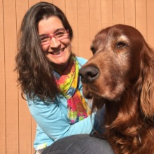 Vanesa Vizuete and her Irish Setter, Trasto