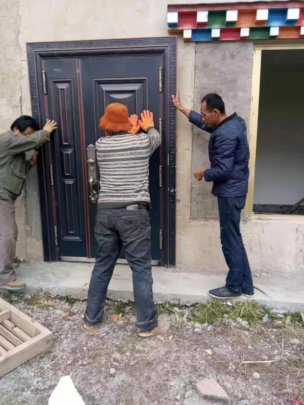 moving the door to the south side of the clinic