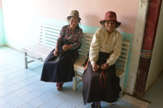 Two patients in the waiting room