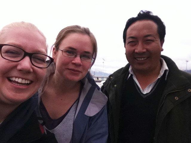 Me, Mathilde and Phuntsok