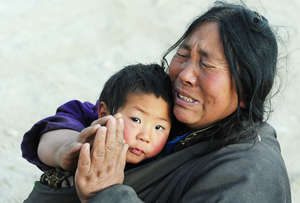 Mother and Child. (credit AFP; Frederic Brown)