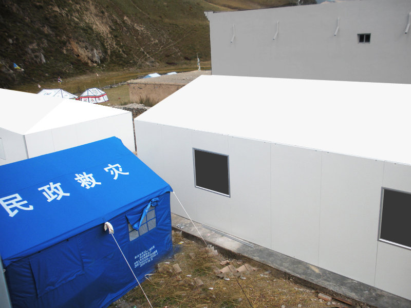 new housing replaces tents