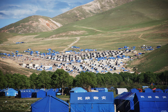 One of 20 refugee tent cities