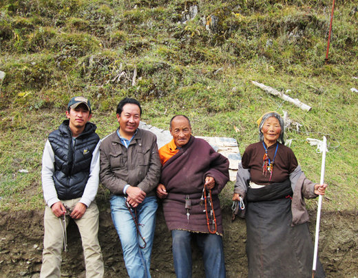 David, Phuntsok, patient and Rijie elder