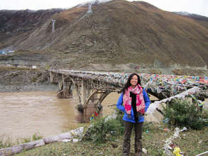 Me, at one of the bridges over the Yangtse