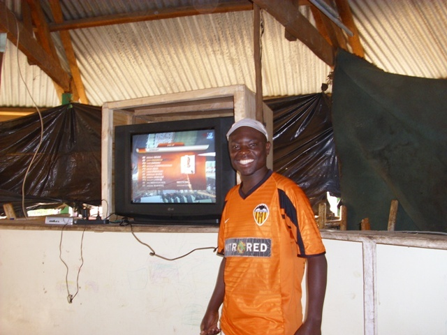Chairman with TV donated for Income Generation
