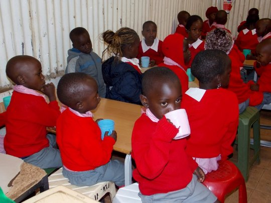 Feeding programmes help education