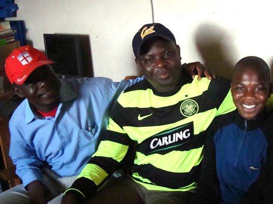 Evans with proud KiMMta Volunteers