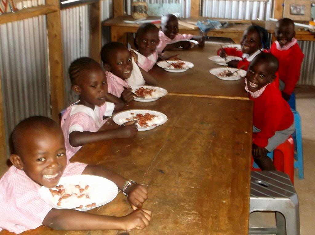 KiMMta ECD Children enjoyinh their lunch