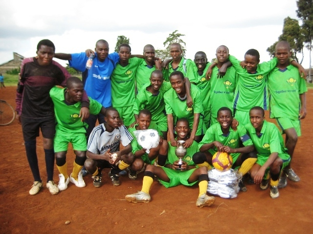 Under 16s Winning Team