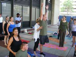 Yoga at Walter Reed Army Medical Center