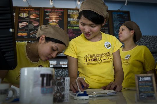 Women training at JOMA Bakery