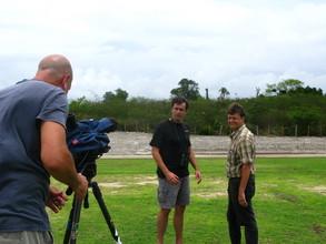 Host James Currie filming Birding Adventures