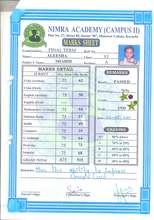 Academic Report Card