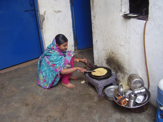 Husna at work to support her household
