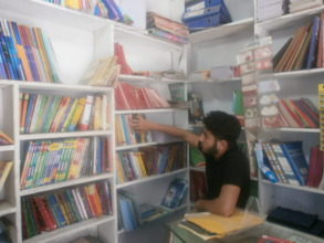 working at the book shop