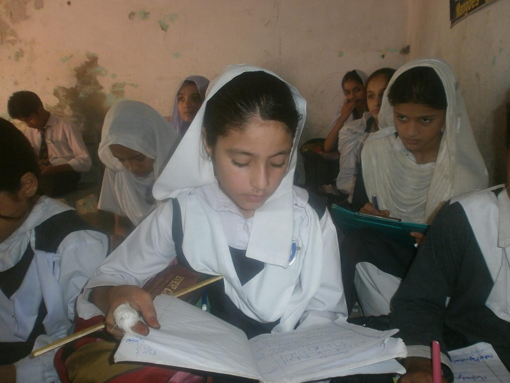 Tayyaba in class