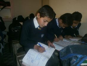 Zubair working on an in-class assignment