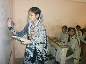 Alisha in the classroom
