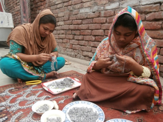 At work - making jewelry