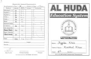 Tayyaba's academic report card