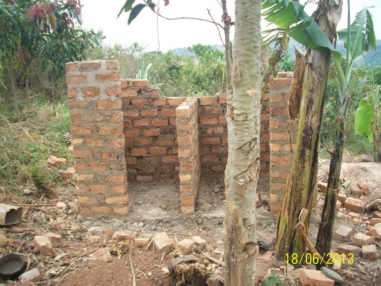 Evas toilet under construction