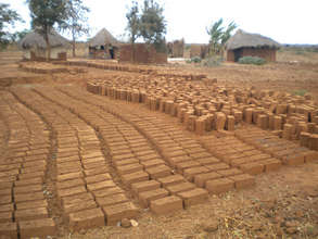 Completed bricks drying