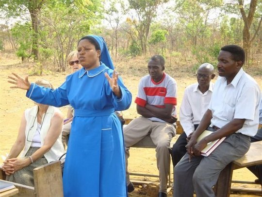 Sister Grace, project coordinator in Chibombo