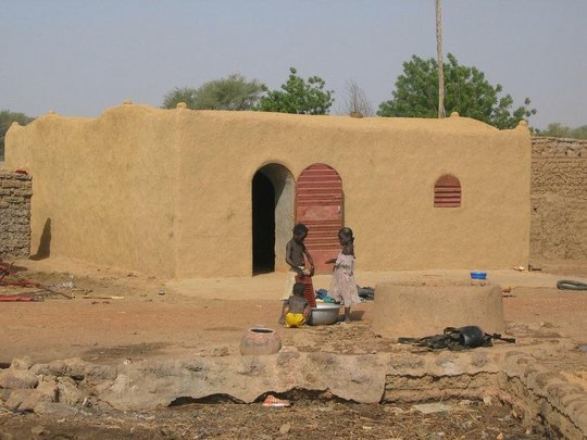 A typical Nubian vault house, Burkiona Faso