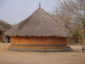 A traditional village house in Zambia