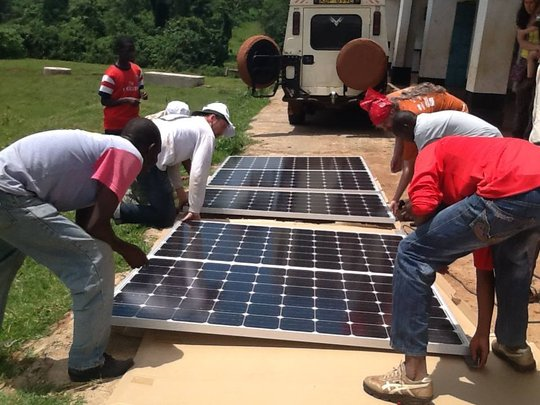 Solar panel installation at KCE!