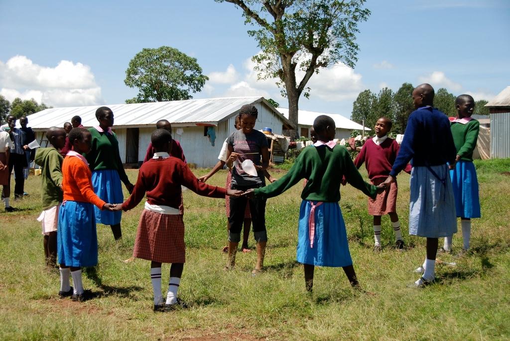 Group activity at a health and leadership camp