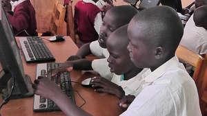 grade 4 girls in computer class