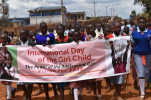 The Day of the Girl March in Enoosaen