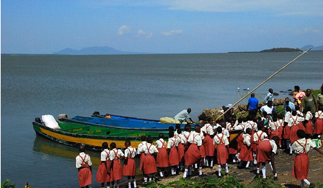 Girls from grades 4 and 5 on their trip to Rusinga