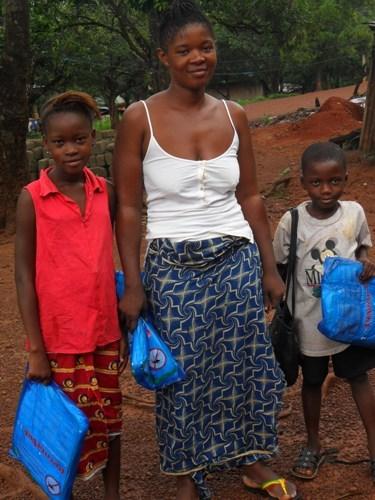 3 mosquito net recipients