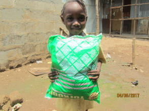 Adama was very thankful for her bed net
