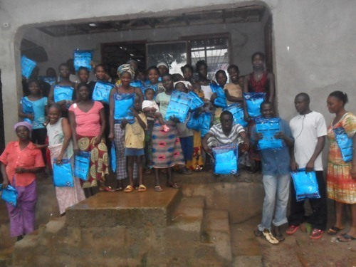 Group of mosquito bed net recipients