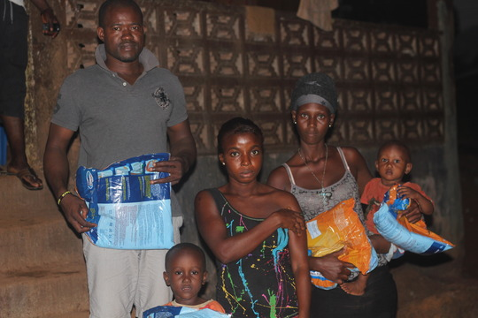 Family bed net recipients