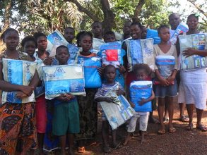 recipients holding their new nets