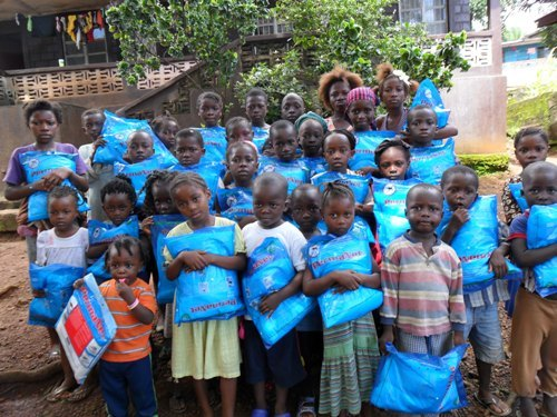 Group of mosquito net beneficiaries
