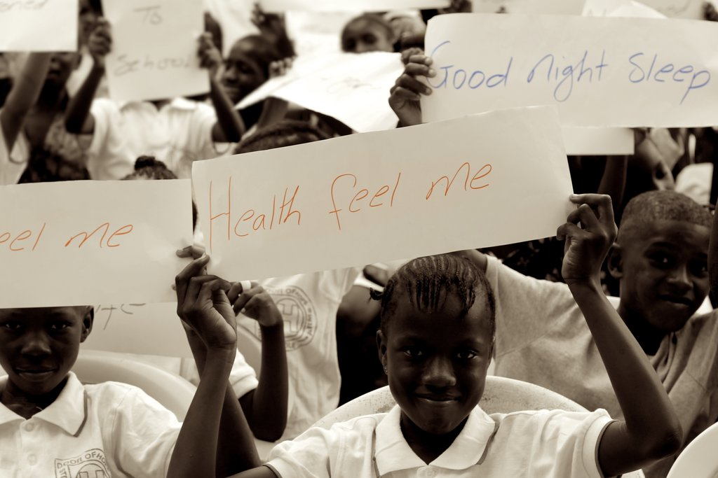 Fighting Malaria, hundreds of kids and families have received mosquito bed nets helping them to get good night