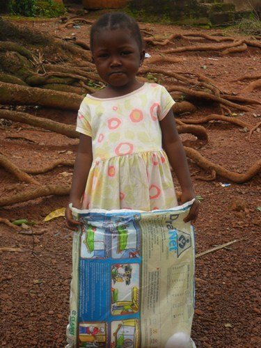 Princess mosquito net recipient safe from malaria