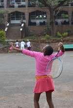 Rescue Centre Children at Tennis Practice